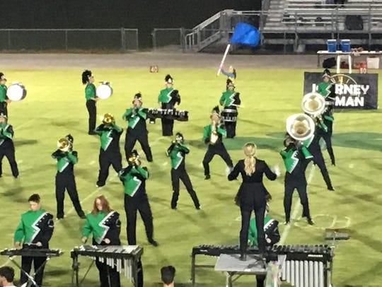 The HCHS Pride of the Emerald Isle Marching Band delivered