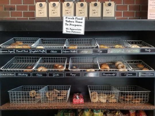Broadway Bagels and Deli has several varieties of bagels