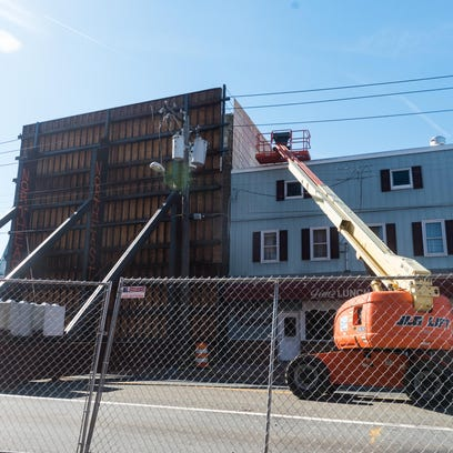 Work continues on Main St in Millville as the demo