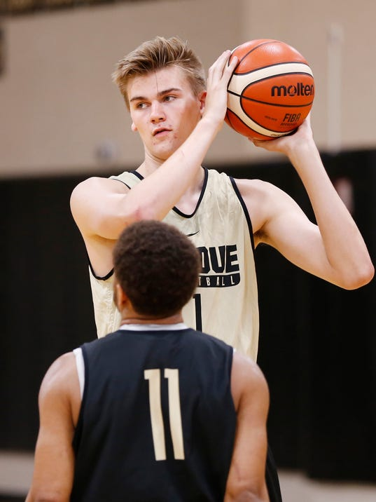 Purdue basketball's Matt Haarms eager to make his presence ...