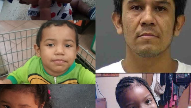 Police say the man in the top right of this image, Jose Garcia Montes, kidnapped the four children on Jan. 20, 2018.