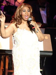 Aretha Franklin rocked Riverbend, performing most of