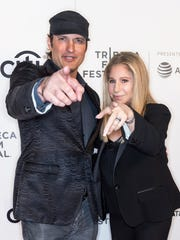 "Filmmaker Robert Rodriguez, pictured here with singer Barbra Streisand, said O'Rourke's ""values are exactly what we need right now in Texas."""