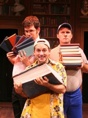 """The whirlwind tour guides of the Reduced Shakespeare Company navigate their way through """"All the Great Books (abridged)"""" when the troupe visits Monmouth University's Pollak Theatre on Oct. 12."""