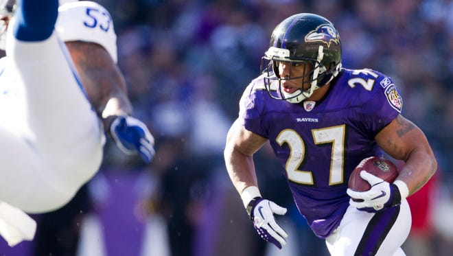 FILE - Ray Rice was arrested this weekend for allegedly striking his fiance in Atlantic City.