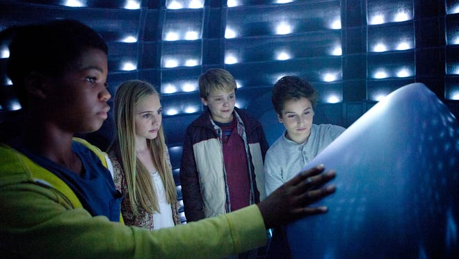 """Brian Bradley, left, Ella Linnea Wahlestedt, Reese Hartwig and Teo Halm appear in  """"Earth to Echo."""""""
