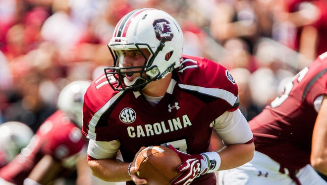 South Carolina quarterback Dylan Thompson.