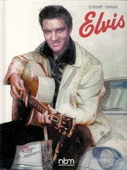 """Elvis: A Biography in Comics"" features beautiful, photo-realistic art done in watercolor."