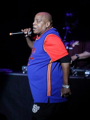 Sugarhill Gang's Henry 'Big Bank Hank' Jackson performs during the Justin Timberlake and Friends Old School Jam concert benefiting Shriners Hospitals for Children at the Planet Hollywood Theater for the Performing Arts on October 1, 2011 in Las Vegas.