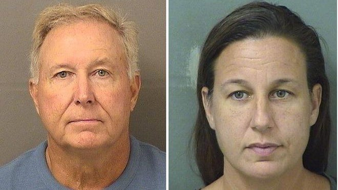 John Clay Dickinson and Rachel Janea McGinnis were booked Oct. 30, 2019, at the Palm Beach County Jail.