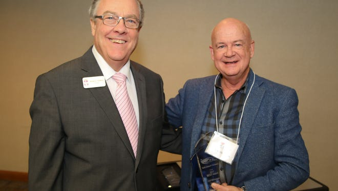 Vol State President, Jerry Faulkner (left) with the award recipient Cliff Williamson.