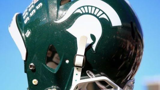 MSU Spartan football helment.