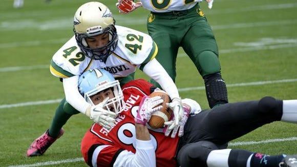 The Shrine Bowl is an annual all-star football game between North Carolina and South Carolina seniors.