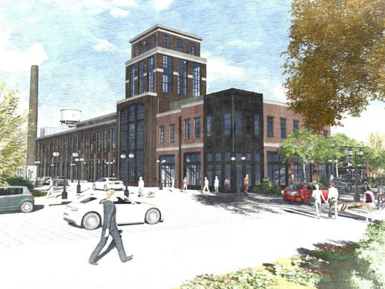 This drawing shows the proposed look of Old Elk Distilleries planned for the corner of Linden and Willow streets in Fort Collins' Poudre River District. Blue Ocean Enterprises may bring the concept to the site of Windsor's historic mill.