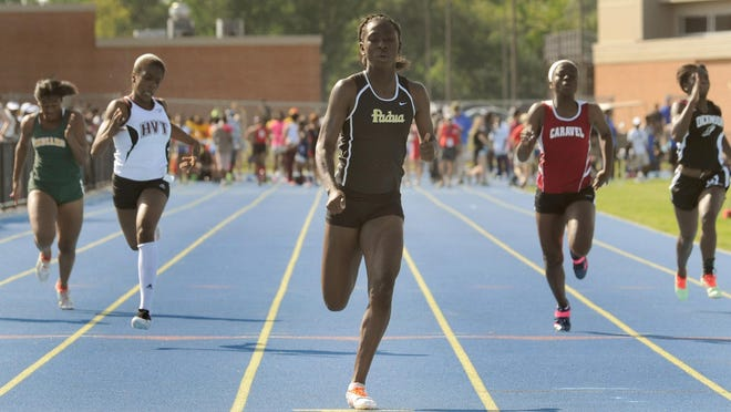 Maiya Dendy repeated as 100 and 200 champion and led off Padua's winning mile relay at the Meet of Champions on Wednesday night.