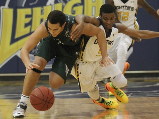 Lehigh's Stef'an Strawder attempts to steal the ball
