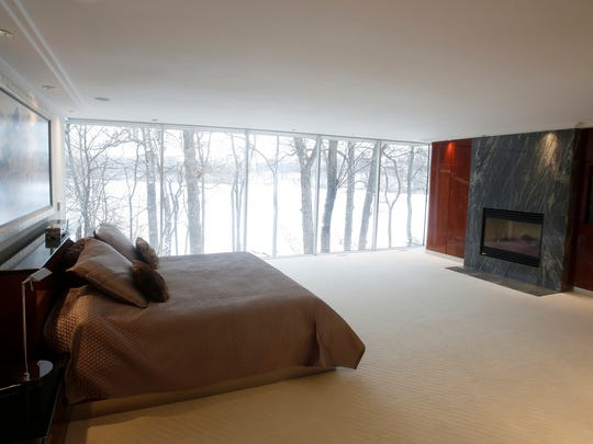 Perhaps the master bedroom and bath are the most stunning rooms in this large 6,537 square foot home as seen on Friday, January 12, 2018 in the Wabeek subdivision in Bloomfield Township, Michigan.The home is for sale for $1.69 million.It was built in 1979 and remodeled in 2002. Has three full baths and two half baths.