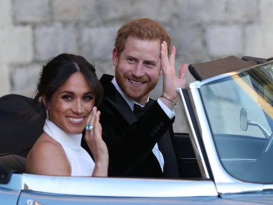 Britain's Prince Harry, Duke of Sussex, and Meghan