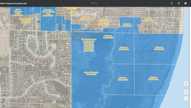 Kohler Co. has proposed the annexation of Town of Wilson land into the City of Sheboygan.