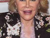 "Joan Rivers in February 2012 backstage for E!'s ""Fashion Police"" before a fashion show in New York."