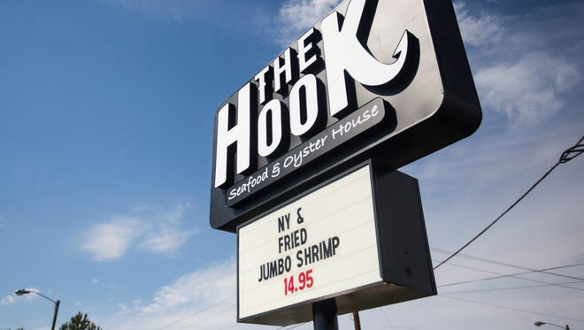 The Harbor Inn on North Main in Anderson has been renovated and renamed The Hook Seafood & Oyster House.
