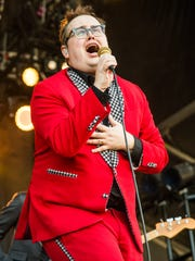 Paul Janeway of St. Paul and The Broken Bones performs