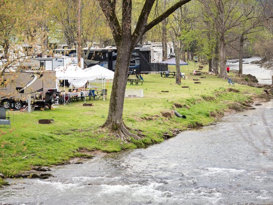 Camp Riverslanding campground in Pigeon Forge on Tuesday,