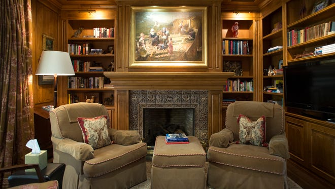 The study in the Paradise Valley home of Sharron Lewis on the Cooks Tour Cool Home