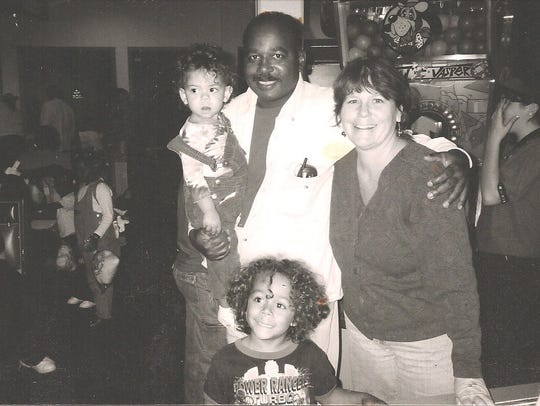 Michael Dobson, his wife Cyndi and their two children,