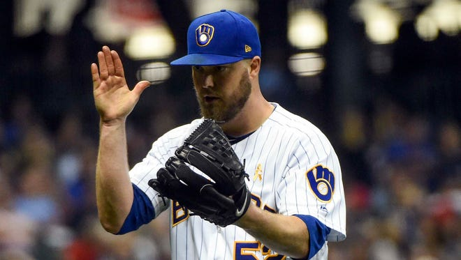 Brewers pitcher Jimmy Nelson is eager to get back into action after recovering from shoulder surgery all of last season.