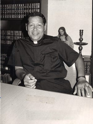 The late Msgr. Jose Leon Guerrero, shown in this photo that published in the Pacific Daily News in August 1974.