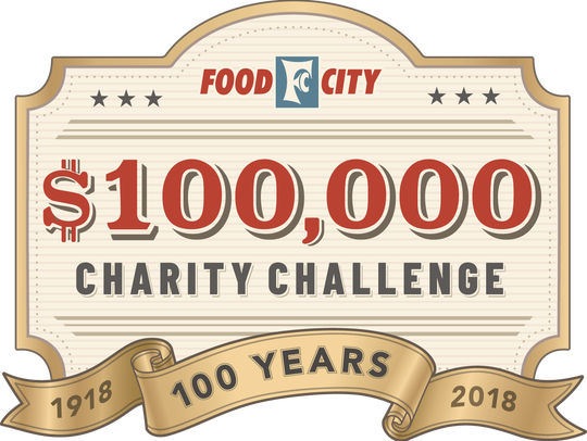 The Food City Charity Challenge will begin April 18 and run through May 29, 2018. Food City plans to donate $100,000 to charitable organizations throughout its market area.