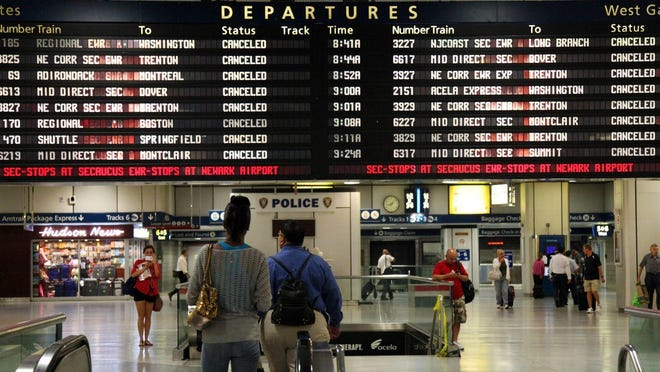 Penn Station in New York.