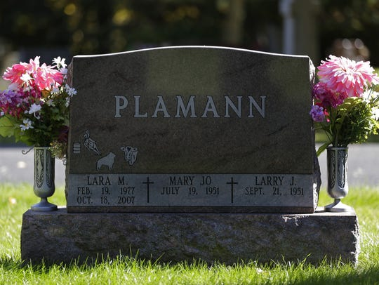 Lara Plamann's grave is at St. Joseph Cemetery in Appleton.