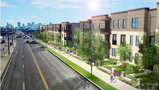 A rendering of the 50-unit project Strategic Options International Inc. plans for 1.93 acres at 900 Dickerson Pike.