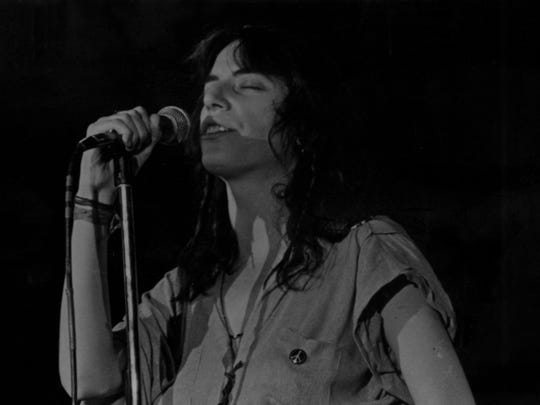Patti Smith performs at Montclair State College on March 18, 1979.