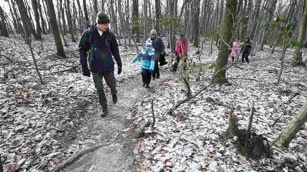 Go on a brisk winter hike and relax in the Pennsylvania woods
