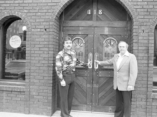 Gary Weston, left, and his father, Russell Weston,