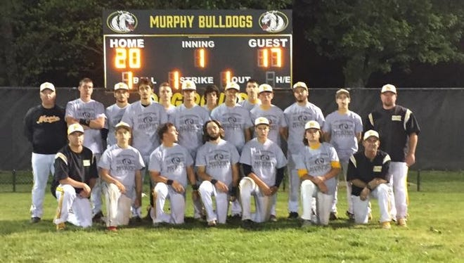 Murphy baseball players and coaches.