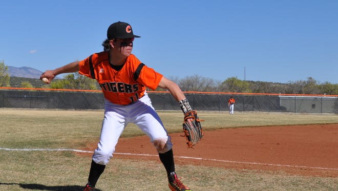 This file photo shows Capitan's Caleb Hightower. The Tigers prepare to face (2-4) Loving at noon and 2 p.m. Saturday.