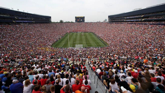 The ICC returns to Michigan Stadium with Liverpool and Manchester United meeting there before an expected crowd of more than 100,000