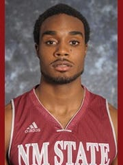 New Mexico State junior Ian Baker.