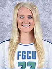FGCU volleyball player Leigh Pudwill