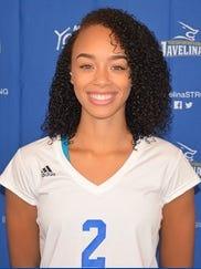 Texas A&M-Kingsville volleyball player Krystal Faison