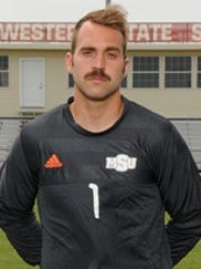 MSU goalie Noah Fazekas