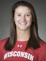 Jenny Ryan, Victor, is a senior defenseman at Wisconsin. Her plus-131 rating ranks fifth all-time in school history.