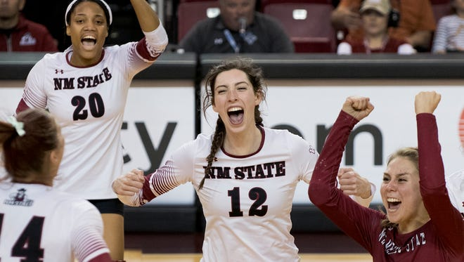 The New Mexico State volleyball is the top seed for this weekend's Western Athletic Conference Tournament in Edinburg, Texas.