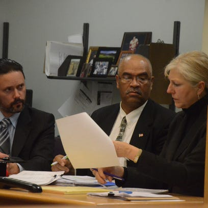 Maurice Barnes with his attorneys, Justin McCarthy