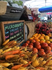 Fresh, locally grown fruits and vegetables will be