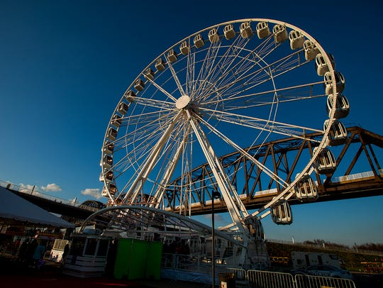 The SkyStar Observation Wheel opened to the public